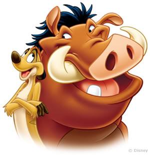 ライオンキングの 「ティモンとプンバァ」 3fcd217c. かわいいでしょ。